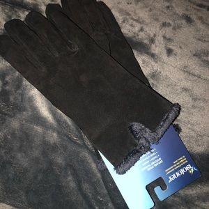 ISOTONER original black lined gloves NWT size L